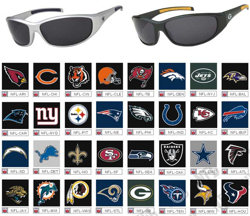 View NFL Sunglasses and Football Sunglasses Wholesale