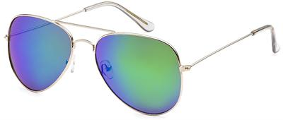 Multicolor Lens Aviator Sunglasses