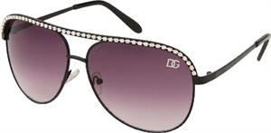 Fashion Aviator Sunglasses with Rhinestones on Rim