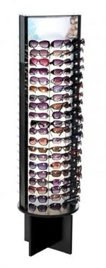 Rotating Floor Sunglass Display - Holds 120 Sunglasses #120-2S