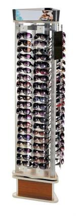 Rotating Floor Sunglass Display - Holds 120 Sunglasses ...