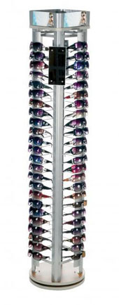 Rotating Floor Sunglass Display - Holds 96 Sunglasses #96LINK