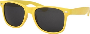 Bright neon yellow fashion sunglasses