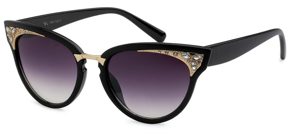 VG Cat Eye Womens Rhinestones Sunglasses