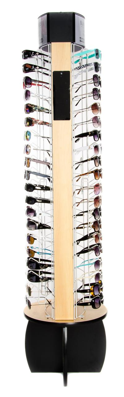 Rotating Floor Sunglass Display Rack - Holds 80 Sunglasses ...