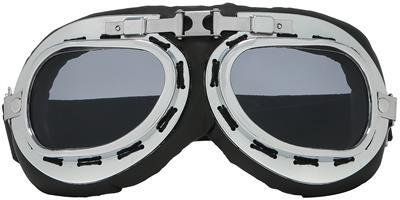 Choppers Foam Padded Biker Goggle Sunglasses Unisex Matte Black Multicolor Lens