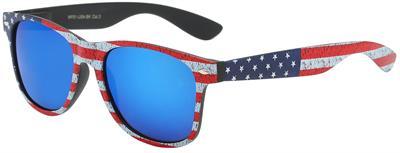 7146d96c9607 Vintage Style American Flag Retro Sunglasses - WF01-USA-BK